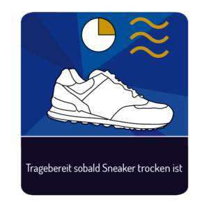 Tragebereit sobald Sneaker trocken ist