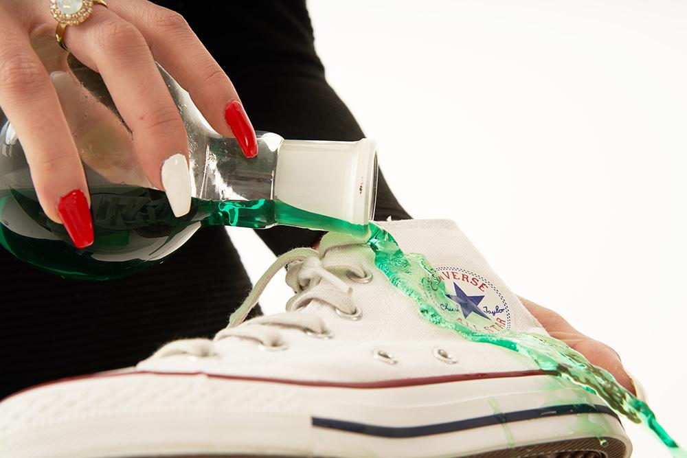 Sneaker Retter - saubere Ränder